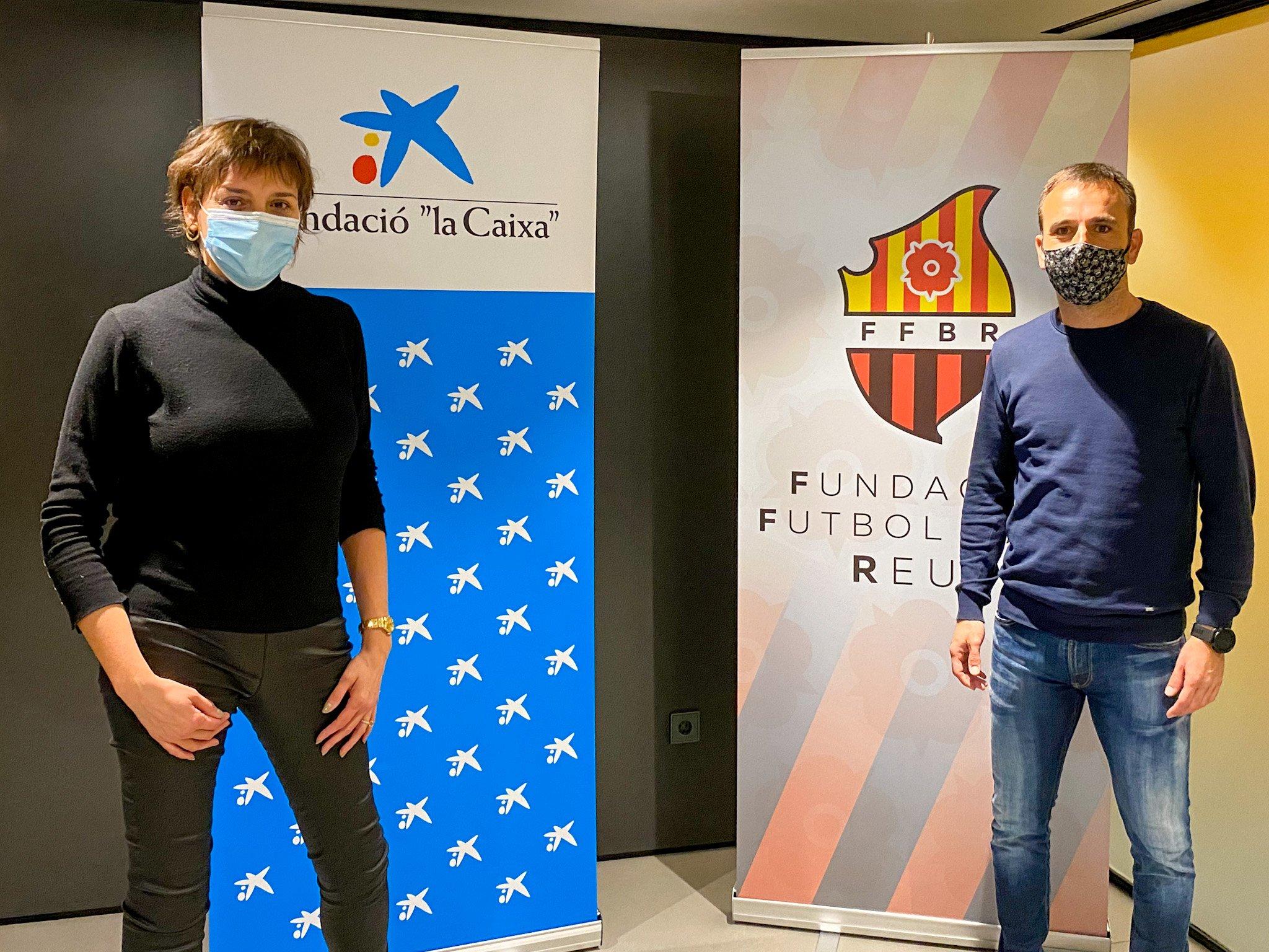"""La Fundació Futbol Base Reus rep al suport de la Fundació """"la Caixa"""" i CaixaBank per l'equip Genuine i renoven el conveni de col·laboració"""