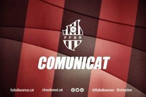 Comunicat conjunt Fundació Futbol Base Reus, CF Reddis i Plataforma Sempre Reus 1909